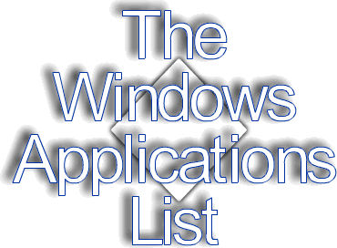 The Windows Applications List-Windows Apps for system maintenance